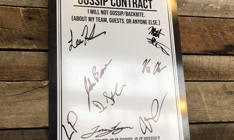 Our No Gossip Contract